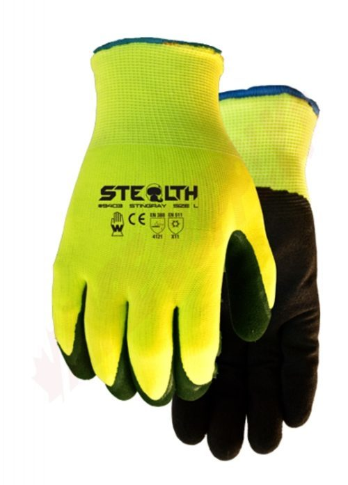 Bright Yellow Safety Gloves